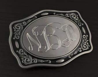 Cowboy Belt Buckle, Personalized Texas Design Nickle Belt Buckle, Men's Belt Accessories, Custom Belt Buckle Engraved for Free