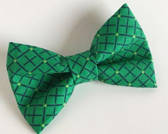 Bow Tie , Green Grid Bow Tie