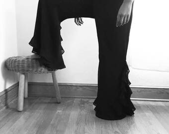 Vintage Sheer Ruffle Pants