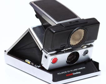 Vintage Polaroid SX-70 Sonar OneStep Instant Film Land Camera Made in USA 1970s Fully Operational