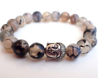 Agate bracelet , Yoga bracelet , Buddha bracelet, Meditation bracelet, Chakra bracelet , Healing bracelet , For yoga lovers