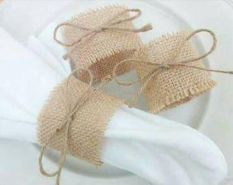 Wedding napkin ring , rustic wedding decoration, rustic wedding table decoration