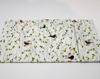 Yoga eye pillow cover, bird pattern, machine washable pillow case, massage therapist gift, hot cold pack, yoga, 100 percent cotton