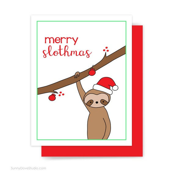 Funny Xmas Gifts For Her Part - 45: Christmas Mug Funny Gift For Friend Her Him Merry Slothmas Cute Sloth Pun  Fun Coffee Mugs Happy Holidays Holiday Kawaii Xmas Gifts Ideas