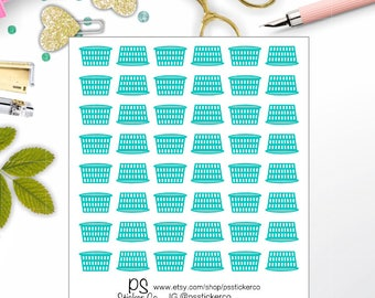Laundry Planner Stickers - Cleaning Planner Stickers - Laundry Basket Stickers - Cleaning Stickers - Erin Condren Stickers - Happy Planner