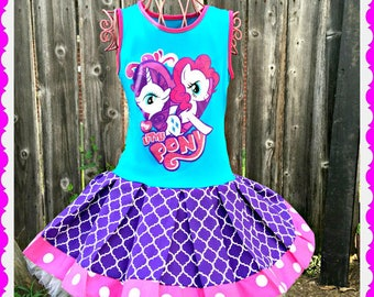 girls MLP Rainbow Dash My Little pony dress 4/5 6/6X 7/8 10/12 and 14/16 ready to ship