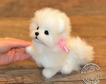 Puppy Lottie ,(made to order)teddy dog ,Teddy ,Toy , little Spitz , pomeranian ,dog ,plush dog,
