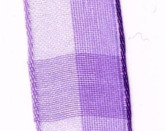 light and translucent purple chiffon Ribbon
