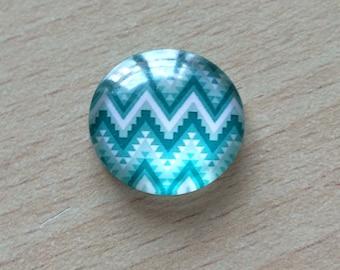 Nice geometry 06 pattern glass cabochon pendant