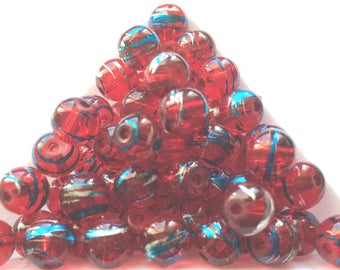 pretty Pearl shimmering red turquoise