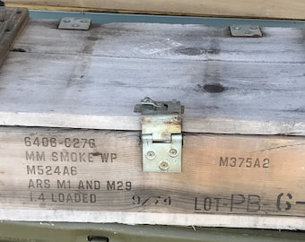 81MM Wooden Smoke Mortar Crate from US Army Ammo crate 1974