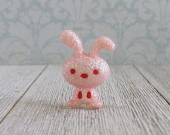 Bunny - Rabbit - Pink - Sparkle - Cute - Lapel Pin
