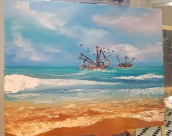 Shrimp Boats 11x14/Oil Painting