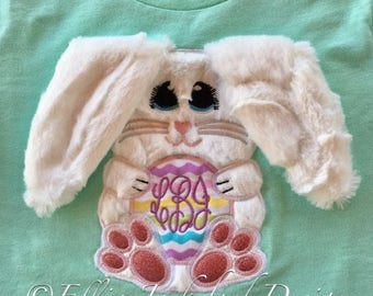 3D Bunny - Easter Bunny - Floppy Ears  -  4 Sizes Included -  DIGITAL Embroidery DESIGN