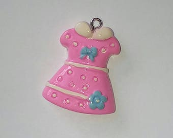 Dress 1 X pink kawaii blue flower