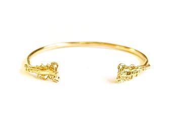 Puno Cuff Bracelet - Brass Cast Scorpions