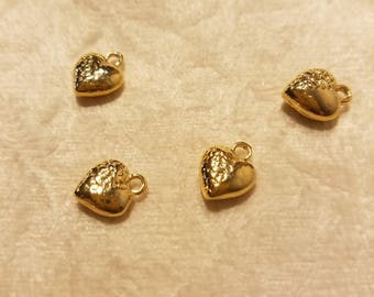 Gold filled heart charms