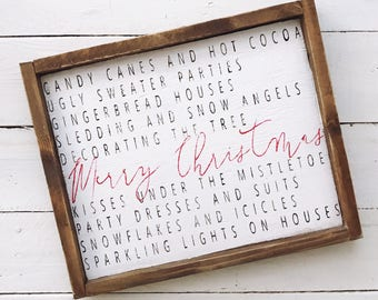 All about Christmas wood sign