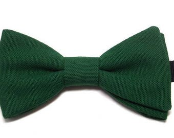 Pine Green bowtie with straight edges