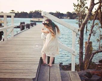 flower girl dress || blush gown
