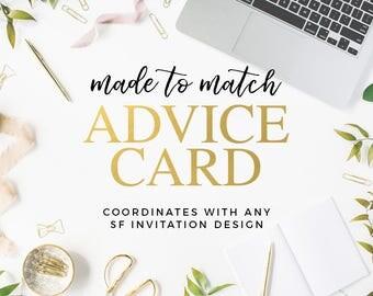 Made to Match Advice Card