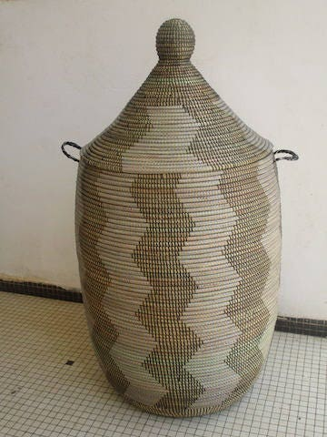 Huge Laundry Basket African Basket Black And White Modern