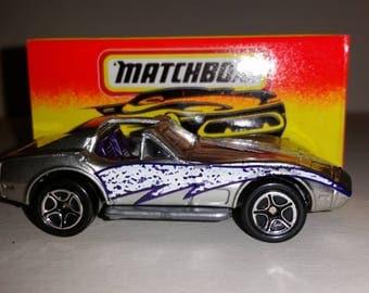 Vintage Matchbox Car  Corvette T-Top Race Car