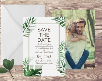 Island Save The Date Card, Destination Save the Date,  Tropical Save the Date, Photograph Save the Date, Santa Barbara Wedding Announcement