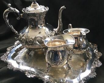 Vintage Silverplate Tea Set