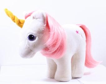 Vintage 80s G1 My Little Pony Hasbro Softies Plush Moondancer, 80s My Little Pony, Plush My Little Pony, Hasbro Softies, Carnival, G1 MLP