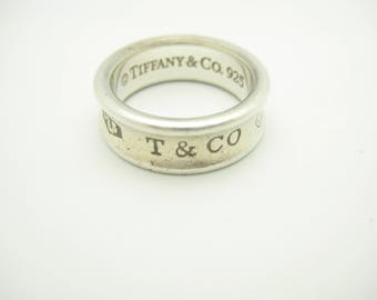 Tiffany & Co. Sterling Silver 1837 Collection Band Ring Size 6