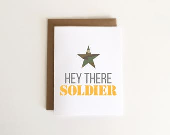 Hey There Soldier Military/Deployment Card 1pc