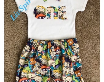 Rugrats-Birthday 90s Rugrats theme-First Birthday-Rugrats fabric-Rugrats Birthday Party-Rugrats Cartoons-90s-