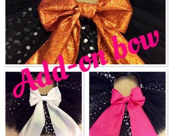 add-on large tutu bow