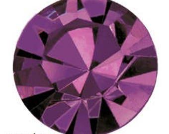 amethyst flatback crystals/rhinestones - one gross