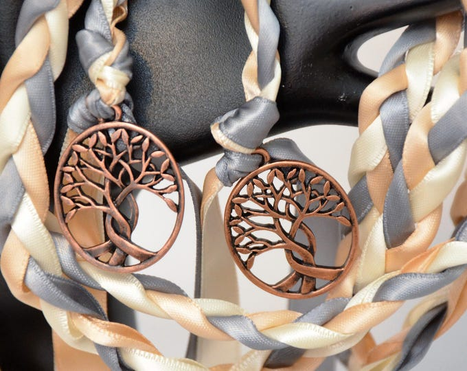 Featured listing image: Copper Tree Of Life Wedding Handfasting Cord ~   Celtic Wedding ~ Handfasting ~ Nature ~  Wedding Ceremony ~  Handfasting