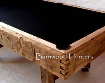 Barnwood, Hand Hewn, Rustic, Reclaimed, Pool Table