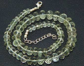 AAA Quality 175.70 cts Green Amethyst Beads 6-11mm Rondelle faceted Strands 17 inches Long CHOOSE BULK Quantity