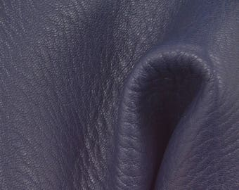 "Prussian Blue Leather New Zealand Deer Hide 4"" x 6"" Pre-Cut 3 1/2-4 oz TA-56768 (Sec. 3,Shelf 5,C,Box 2)"