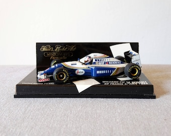 Williams FW 16 Renault, Minichamps Matchbox Car, Williams Renault Miniature, Scale 1:43 Die Cast Car, Model Car, Pauls Model Art, Mansell