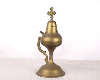 Brass Censer, Catholic Censer, Altar Censer, Religious Censer, Incense Burner, Religious Art, Orthodox Censer, Shrine Censer, Altar Decor
