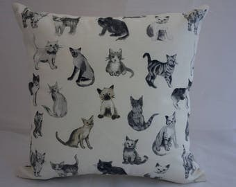Pillow - Cat design feature cushion, complete with cushion pad, zip fastening