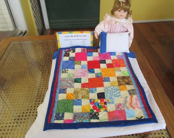 Doll's patchwork quilt set (free postage in Australia)