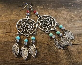 Boho Earrings, Chandelier Earrings, Tribal Earrings, Southwestern Earrings