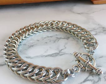 Chainmaille Bracelet for Men - Chainmaille Jewelry for Men - Men's Chainmaille Bracelet - Persian Chainmaille Bracelet - Gift for Him -