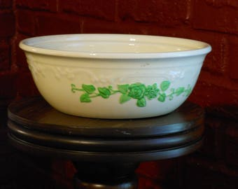 Embossed, Hand Painted Vintage Homer Laughlin Oven Serve Bowl