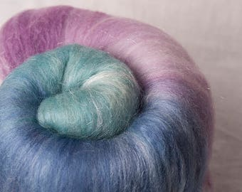Luscious Merino Silk Large batt, perfect for spinning or felting (170120)