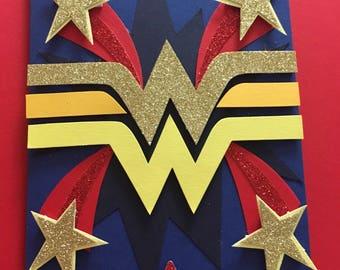Wonder Woman inspired greetings card