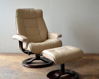 Fjords Norway High-End Danish Leather Recliner Chair