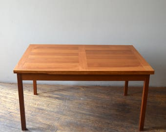 "Mid Century Modern Danish Teak Extending Dining Table Extending to 100""!!!"